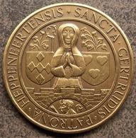 4083 Vz Maaseik Heppeneert - Sancta Gertrudis Patrona Heppeneertensis - Kz Beata Virgo Maria De Pace Ora Pro Nobis - Jetons De Communes