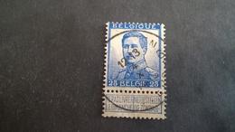 Timbre Ancien Vendu à 15% De Sa Valeur Catalogue Cob 125 Oblitéré - 1915-1920 Albert I