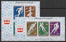 Burundi - 1976 - N°Mi. Bloc 90 à 91B - Innsbruck / Olympics - Non Dentelé / Imperf. - Neuf Luxe ** / MNH / Postfrisch - Burundi