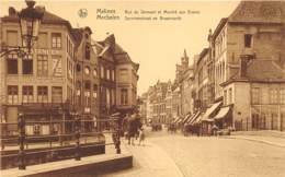 Malines - Rue Du Serment Et Marché Aux Grains - Mechelen
