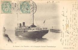 Le Steamer La Touraine De La Compagnie Generale Transatlantique - Piroscafi