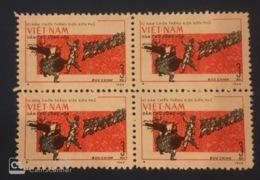 Block 4 Of Vietnam Viet Nam MNH Perf Stamps 1964 : Dien Bien Phu Victory Anniversary - Vietnam