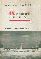 """2-Fascismo-Libro Opera Balilla-IX Campo """"Dux"""" - Unclassified"""
