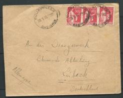 LSC Affr. / Yvert N° 283 X 3 , OBL. CAD BOUXWILLER ( Bas-rhin )  Pou L'allemagne 05/1935  -  LL17206 - Posttarife