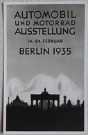 3.Reich/Automobil Und Motorrad Ausstellung Berlin 1935 - Cartes Postales