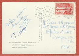 ANDORRE CARTE DE 1950 DE ANDORRE LA VIEILLE POUR DRAGUIGNAN FRANCE - Lettres & Documents