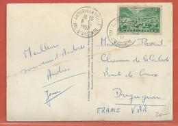 ANDORRE CARTE DE 1952 DE ANDORRE LA VIEILLE POUR DRAGUIGNAN FRANCE - Lettres & Documents