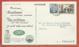ANDORRE CARTE PHARMACEUTIQUE DE 1950 DE ANDORRE LA VIEILLE POUR REIMS FRANCE - Lettres & Documents