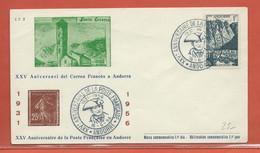 ANDORRE LETTRE DE 1956 - Lettres & Documents