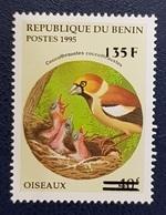 BENIN 1995 BIRDS BIRD 135 F - OVERPRINTED OVERPRINT SURCHARGED SURCHARGE OVPT - RARE MNH - Benin - Dahomey (1960-...)