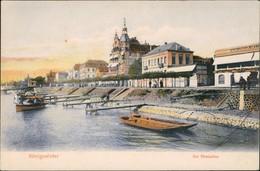 Ansichtskarte Königswinter Anleger - Gaststätten Promenade 1905 - Koenigswinter