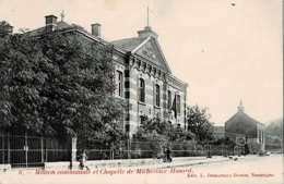 Maison Communale Et Chapelle De Micheroux-Hasard Circulée En 1919 - Soumagne
