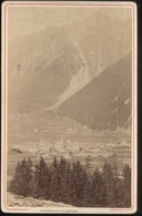 Photo Originale Sur Albuminé Chamonix Et Le Brevent 10,5 X 16,5 Cm - Anciennes (Av. 1900)