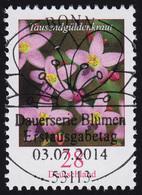 3088 Blume 28 Cent Nassklebend Mit UNGERADER Nummer, ESSt Bonn - [7] République Fédérale