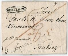 """1824, Glasklarer Zieroval """" WIESELBURG """" , A3004 - ...-1850 Préphilatélie"""