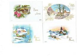 Petite Carte Mignonnette - Lot 7 - Bonne Année  CHEVAUX OISEAU - Neujahr