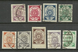 LETTLAND Latvia 1919 Michel 15 - 23 O - Lettonia