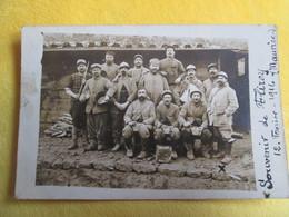 Carte Photo Militaires . Souvenir De Flirey 1916 - France