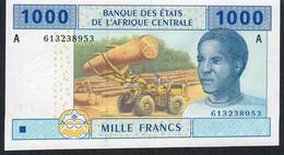 C.A.S. Letter A For GABON P407Ac 1000 FRANCS 2002 Signature 11  UNC. - Gabun