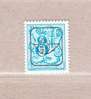 1982 Nr PRE813P7 ** Postfris,blauwe Gom.Heraldieke Leeuw.8fr. - Precancels