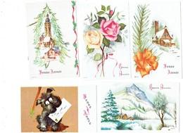 Petite Carte Mignonnette - Lot 5 - Bonne Année  Chien Fox - Neujahr