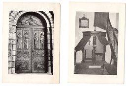 Eglise De THEVET - ST-JULIEN  2 Cartes Postales : Portail + Confessionnal - France