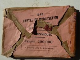 Militaria - Cartes De Mobilisation 1923 - Contient 9 Cartes - Mayence Strasbourg Vesoul Coblentz Cologne Longwy +3 - Documents
