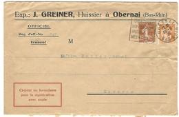 Daguin Obernai 18.8.1935 Sur Lettre D'huissier - 1921-1960: Periodo Moderno