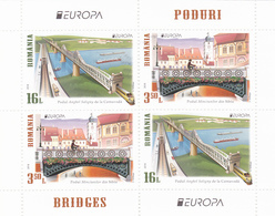 EXTRA PRICE! ROMANIA, 2018,Europa 2018: BRIDGES, Europa-CEPT,X2SET IN MS FACE VALUE! DISCOUNT! - 2018