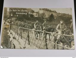 La Fuite Des Boches Luxembourg 1918 - Cartes Postales