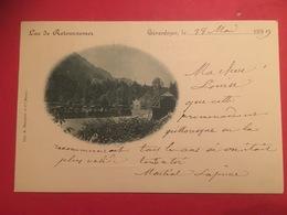 Train Et Locomotive à Vapeur à Gérardmer Pour Le Tour Du Lac De Retournemer En 1899 Imp. A Bergeret Et Cie Nancy - Gerardmer