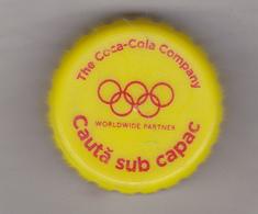 Romania Coca Cola Cap - Plastic Cap - Olympic Games - Soda