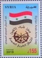 Syria 2019 NEW MNH Stamp - Army Day - Flag - Syrië