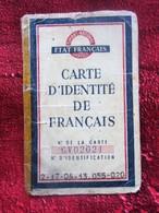 WW2 ETAT FRANÇAIS 1944 CARTE IDENTITÉ De FRANÇAIS PAR FILIATION MARSEILLE SOUS RÉGIME DE VICHY PÉTAIN - Documents Historiques