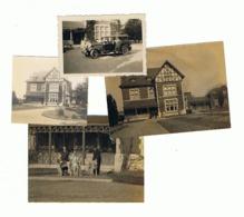 LEEDS +/- 1925 - Lot De 4 Photos - Villa, Oldtimer, Levrier (b132) - Orte