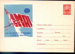 1 MAI,Fusee / Rocket.Mapemonde  Entier Postal - Romania / Roumanie 1962 - Covers & Documents