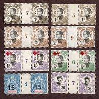 Indochine N°23,41,42,47,66,68 Paires Avec Milésime N* TB Cote 115 Euros !!!RARE - Indochine (1889-1945)