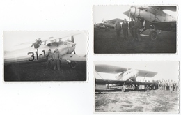 MILITARIA. AVIATION. MAROC. 3 PHOTOS.  AVION BREGUET. AGADIR ? MARRAKECH. ANNEES 30. A SITUER. - Aviation