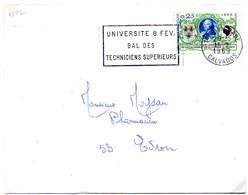 France N° 1572 Y. Et T. Calvados Caen Gare Flamme Illustrée Du 15/01/1969 - Postmark Collection (Covers)