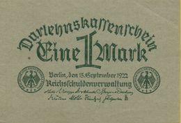 1922 Germany DARLEHNSKASSENSCHEIN P#61 - 1 Mark
