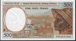C.A.S. LETTER F CENTRAL AFRICAN  REPUBLIC P301Ff 500 FRANCS (19)99  1999 UNC. - États D'Afrique Centrale