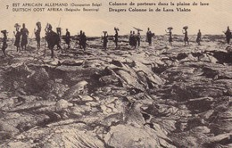 EST AFRICAIN ALLEMAND - DUITSCH OOST AFRIKA,Occupation Belge-Belgische Bezetting,Colonne De Porteurs De Lave - Belgisch-Kongo - Sonstige