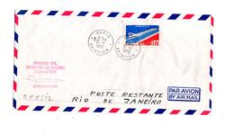 Lettre Premier Vol Concorde Paris Rio De Janeiro - Concorde