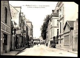 REDON - La Rue Jean Jaurès, à Droite, La Banque De France - Redon