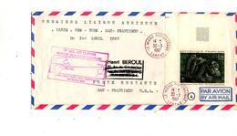 Lettre Premier Vol Pan American Paris San Francisco - Concorde