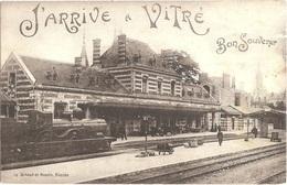 Dépt 35 - VITRÉ - J'arrive à Vitré - Bon Souvenir - (Éditeur : Artaud Et Nozais, N° 19) - GARE, TRAIN - Vitre