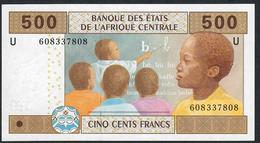 C.A.S. LETTER U CAMEROUN  P206Uf 500 FRANCS 2002 VARIETY PAPER ! SIGNATURE 10  UNC. - États D'Afrique Centrale