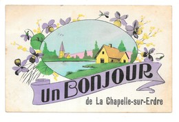 Cpa...un Bonjour De La Chapelle-sur-Erdre...(L.-Inf.)...1938... - France