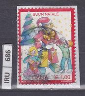 ITALIA REPUBBLICA    2017Natale 1,00 Usato - 6. 1946-.. República