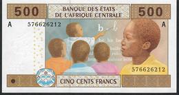 C.A.S. LETTER A GABON  P406Ac 500 FRANCS 2002 UNCOMMON SIGNATURE 11  UNC. - États D'Afrique Centrale
